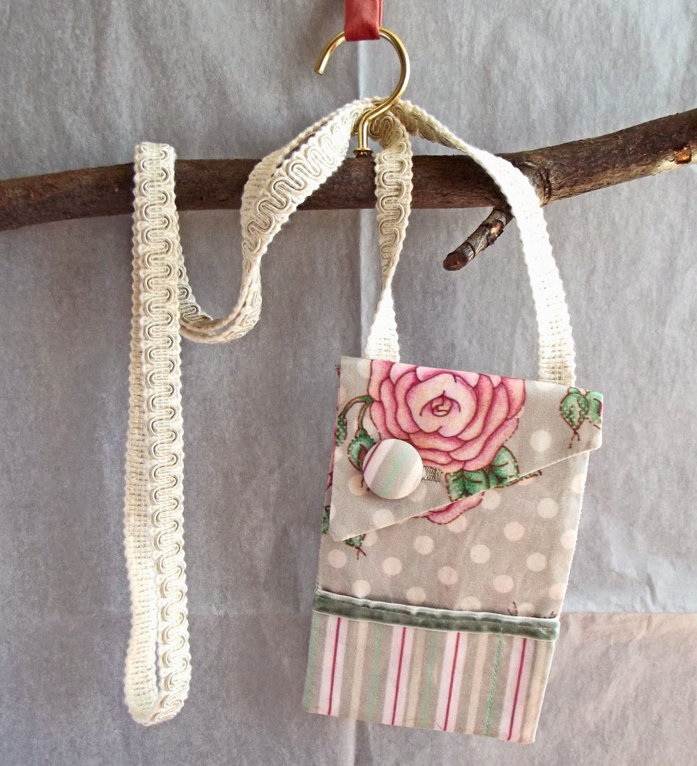 market purse shabby chic long strap purse