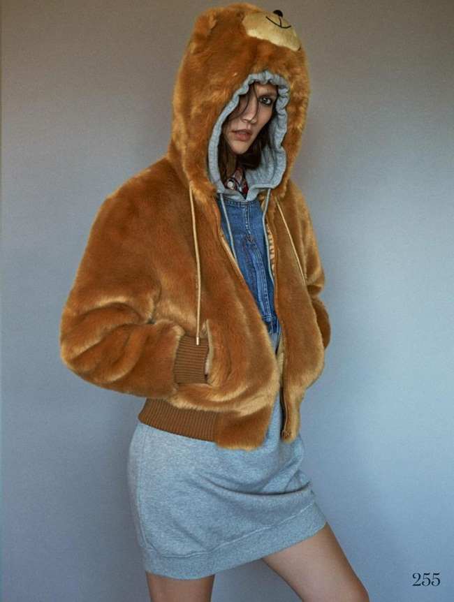 Moschino 2015 AW Teddy Bear Hooded Faux Fur Bomber Jacket Editorials