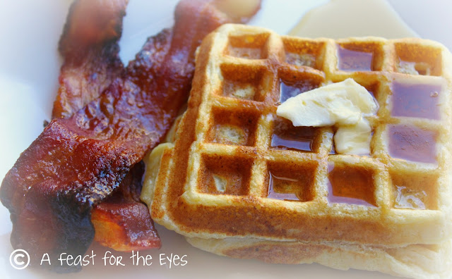 A Feast for the Eyes: Cornmeal and Ricotta Waffles with ...