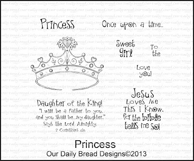Our Daily Bread designs Stamps, Princess, Grace Nywening