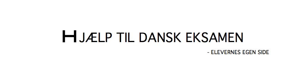 dansk eksamen analysemodeller