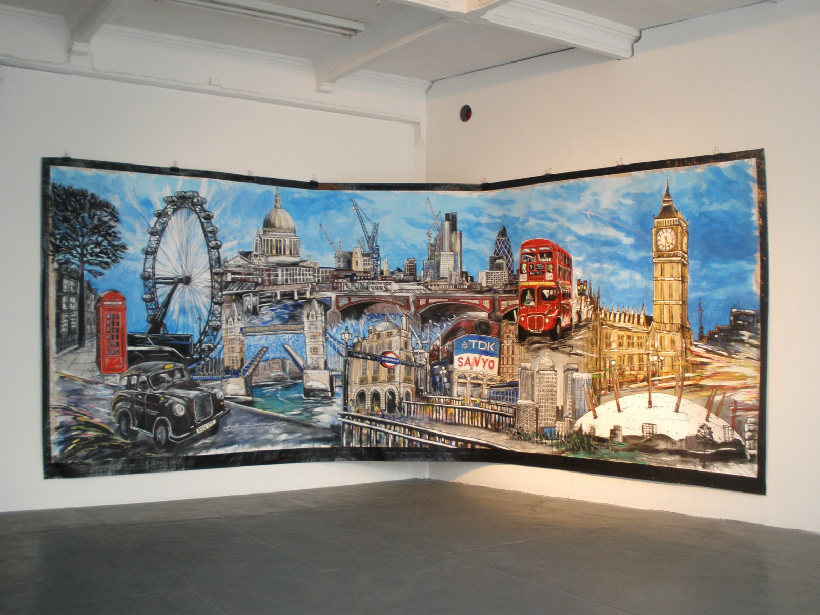 Jenny leonard art blog london cityscape murals british for Cityscape mural