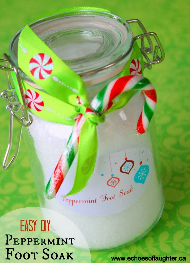Homemade Peppermint Foot Soak