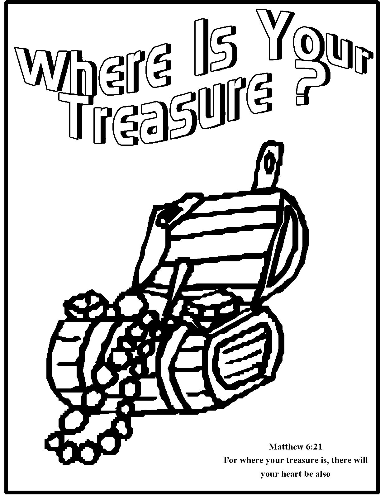 Children 39 s gems in my treasure box july 2012 for Treasure coloring pages