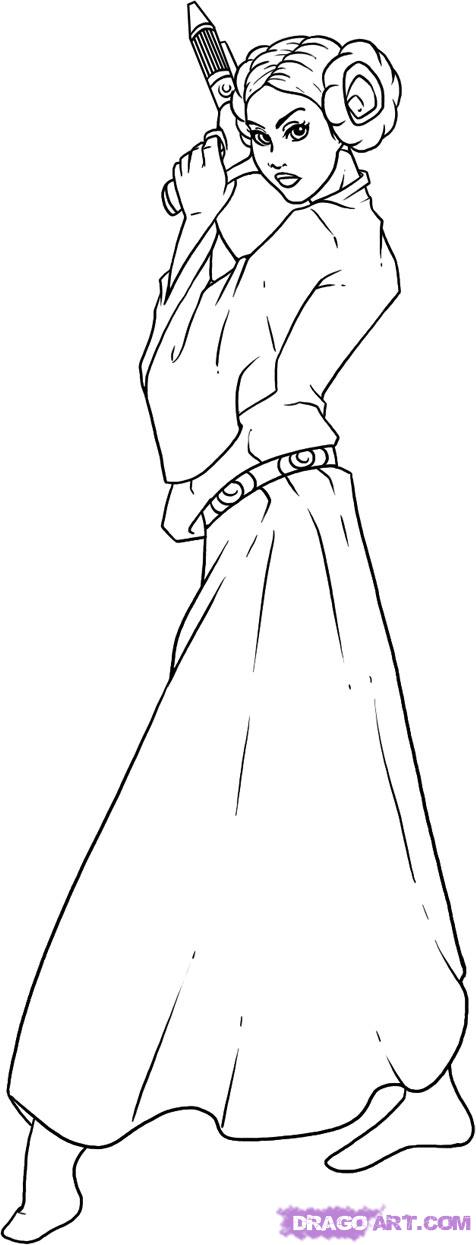 lego princess leia coloring pages lego princess leia - Lego Princess Leia Coloring Pages