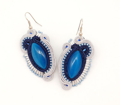 cool sky soutache earrings kolczyki sutasz