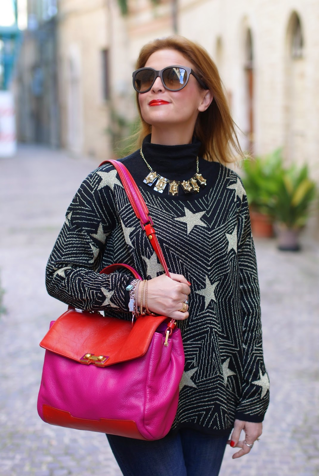 Mismash starry sweater, maglione con stelle, Fashion and Cookies, fashion blogger