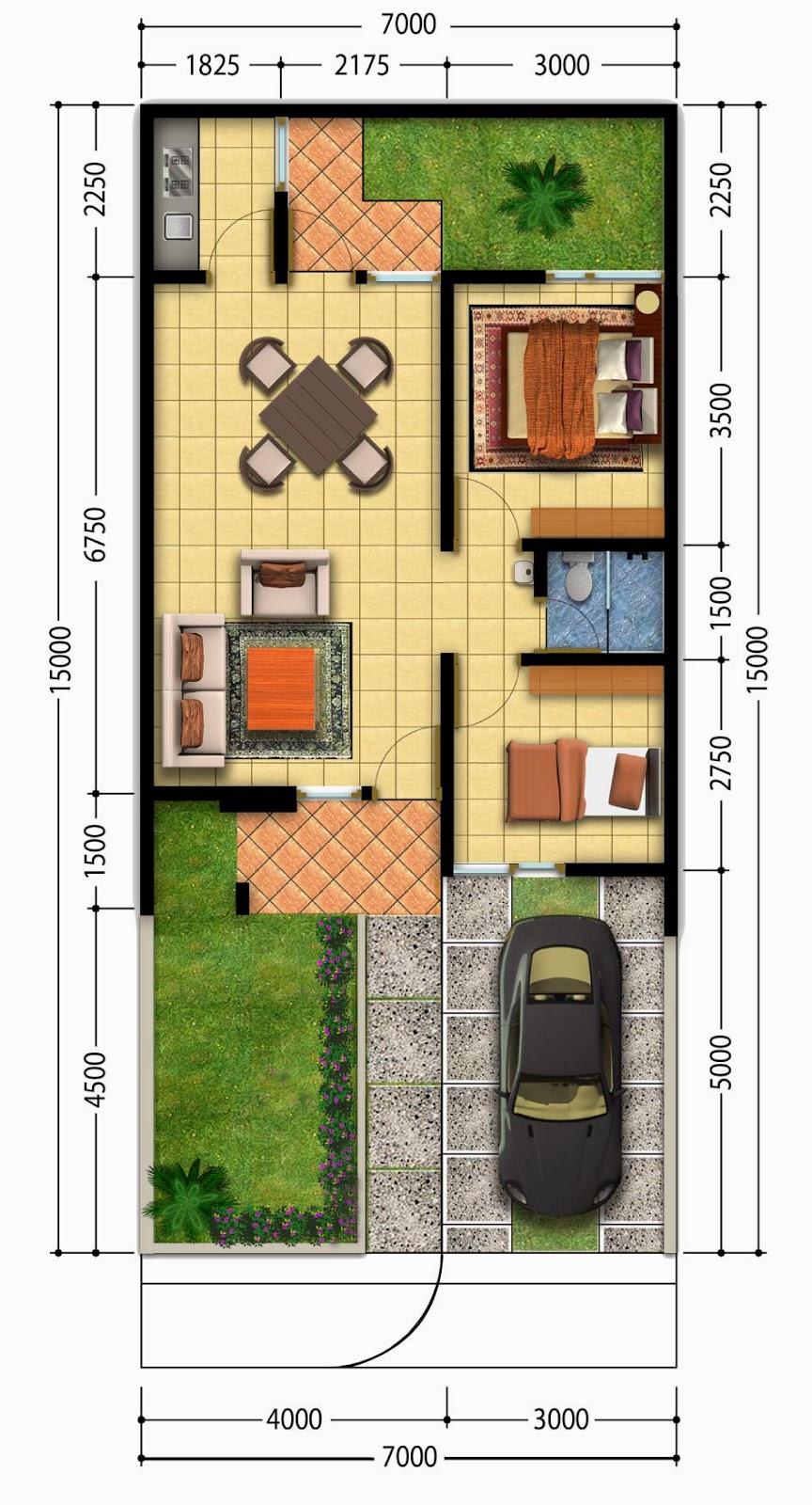 denah rumah minimalis type 36 desain rumahku