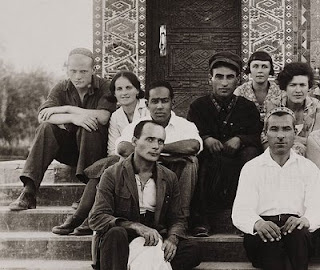 Langston Hughes with a writers group in Central Asia