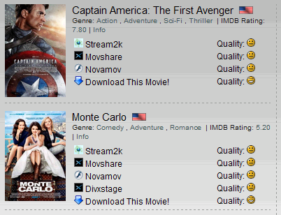 Movie rating website