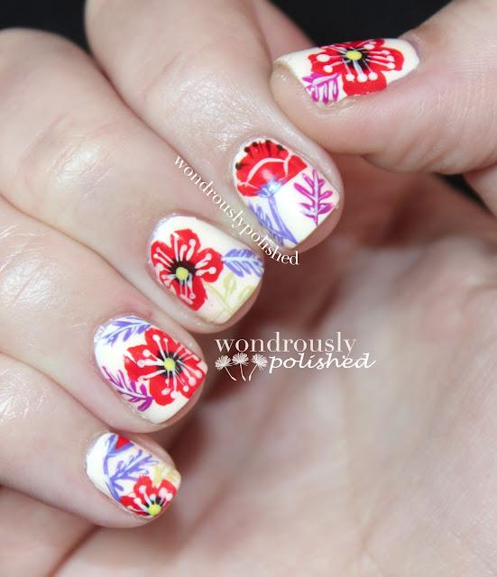 Wondrously Polished: April Nail Art Challenge - Flowers