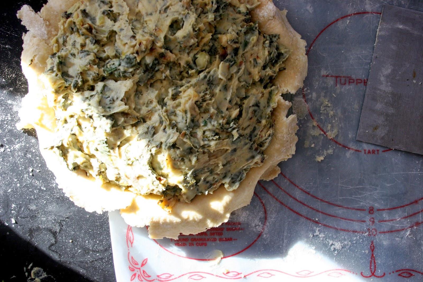 Colcannon Pie, pre-bake