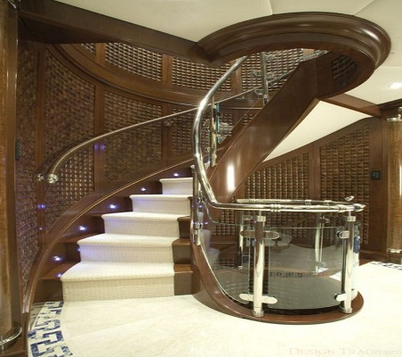 Excellent Home Design Marble Staircase Into The