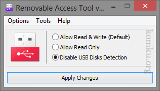 Disable USB disk detection