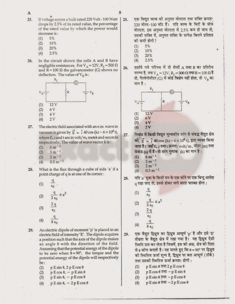 AIPMT 2012 Exam Question Paper Page 8