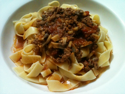 Bolognese Sauce with Mushrooms