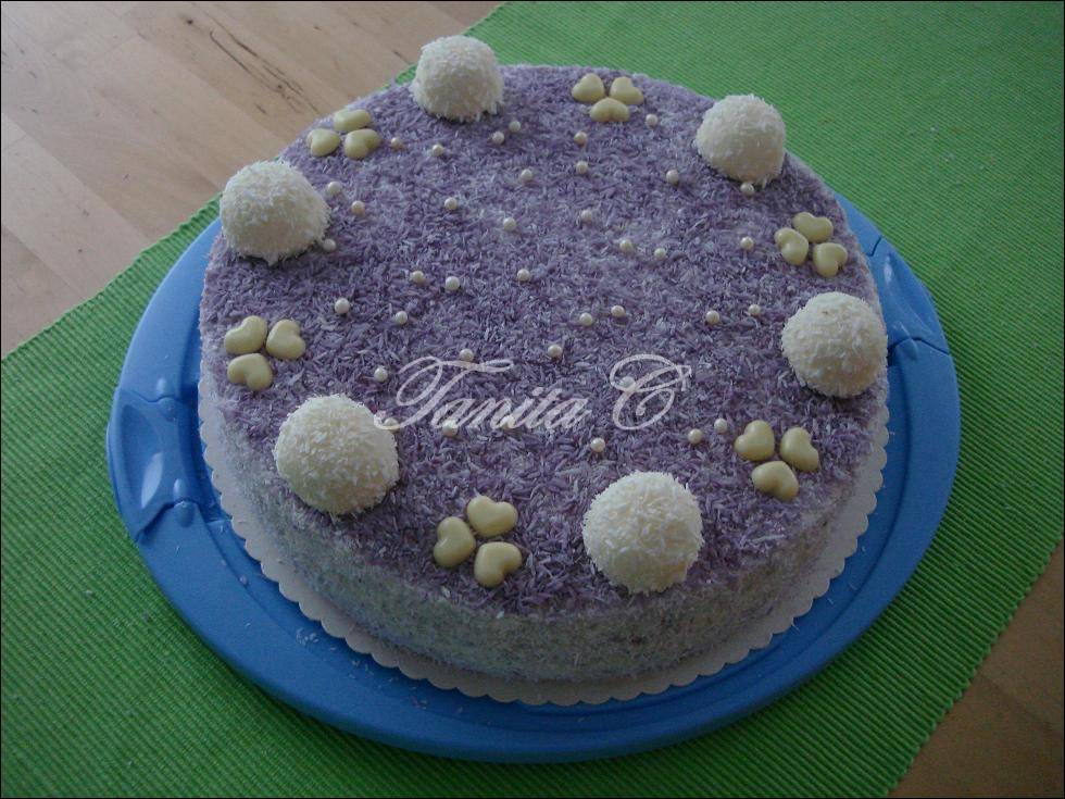 Kuchen mit waldheidelbeeren