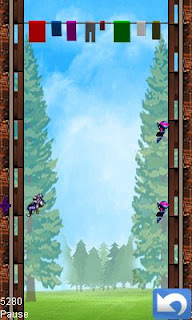 Screenshots of the Ninja heights for java mobile, phone.