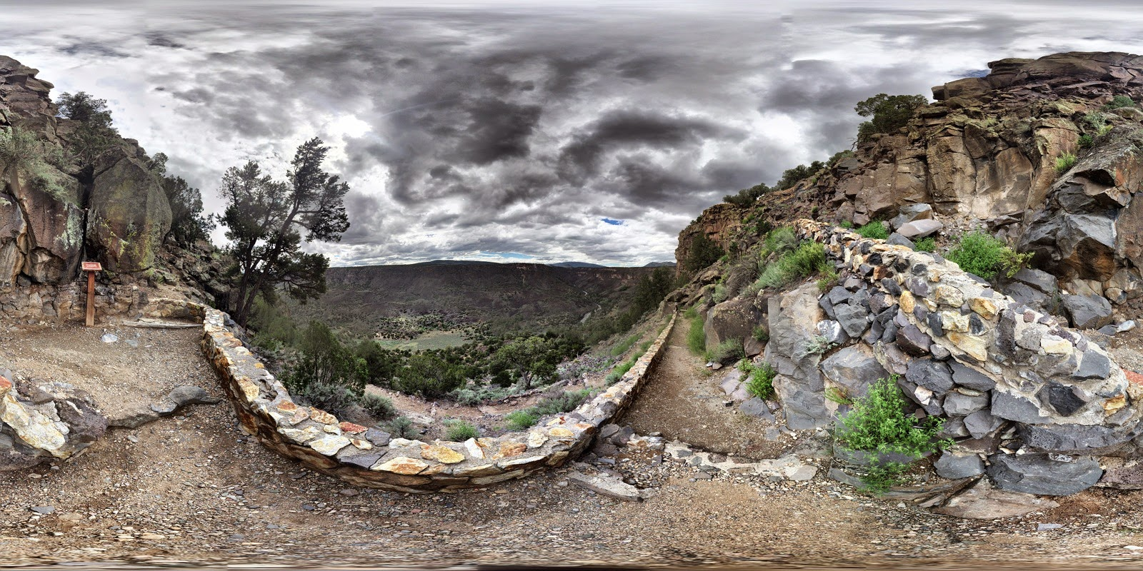 Spherical Panoramic of the Trail to Arsenic Spring