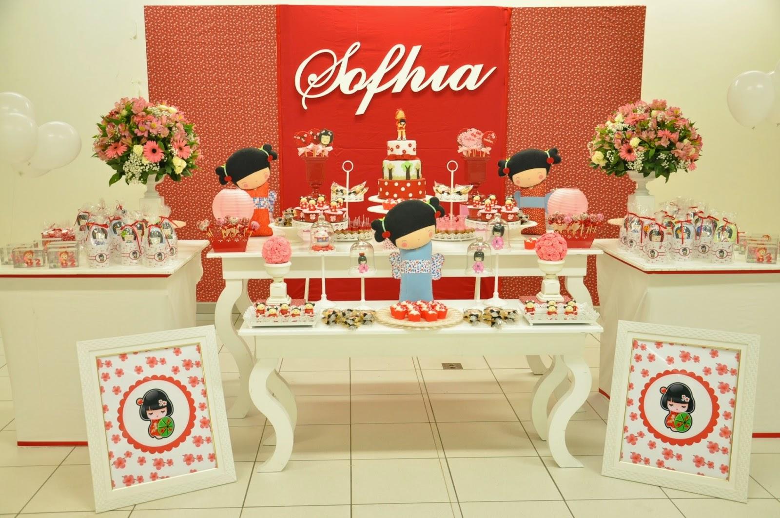 decoracao festa kokeshi:Lica Pedroso Decoração – Decoração clean e Lembrancinhas