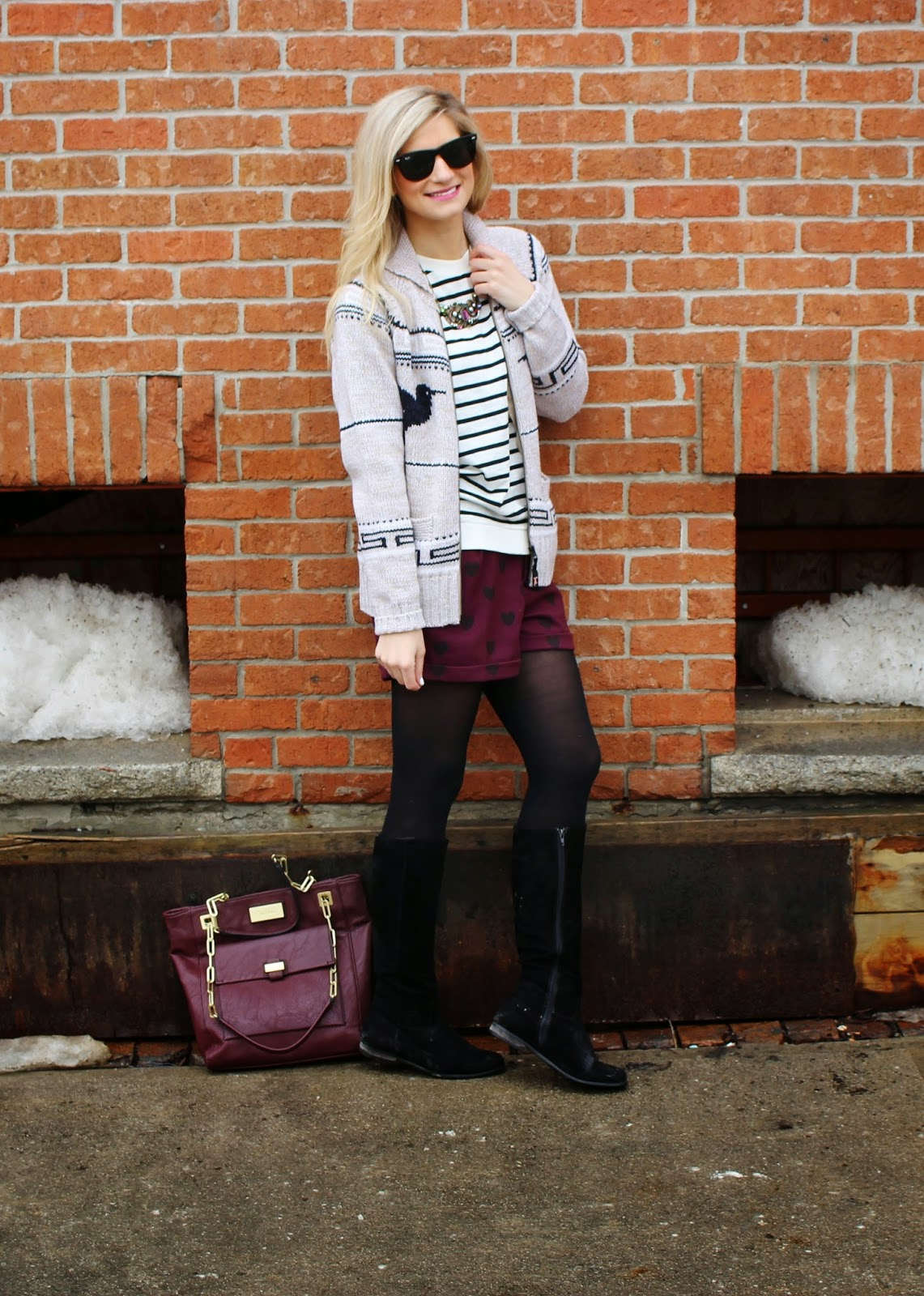 bijuleni,streetstyle,Zara,winter shorts, cardigan, winnersfabfind, stripe,fashion blogger top, H&M