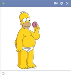 Homer Simpson Facebook Chat Emoticon