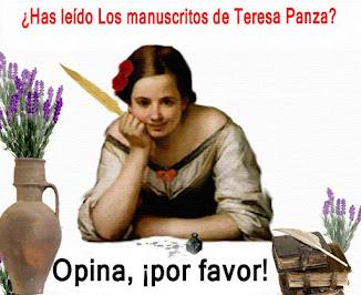¿HAS LEÍDO LOS MANUSCRITOS DE TERESA PANZA?