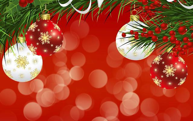 Rode En Witte 3d Kerstballen Mooie Leuke Achtergronden