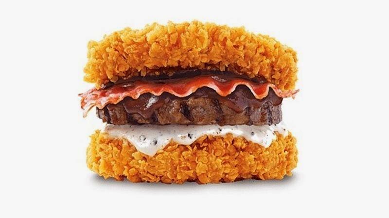 1 hamburdger 750kalorií! Kalorické monstrum od KFC