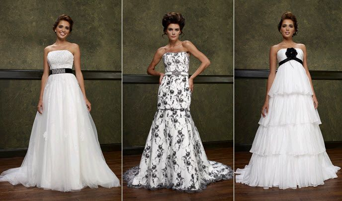 Black N White Wedding Dresses : The following is a lists of top wedding decor trends for