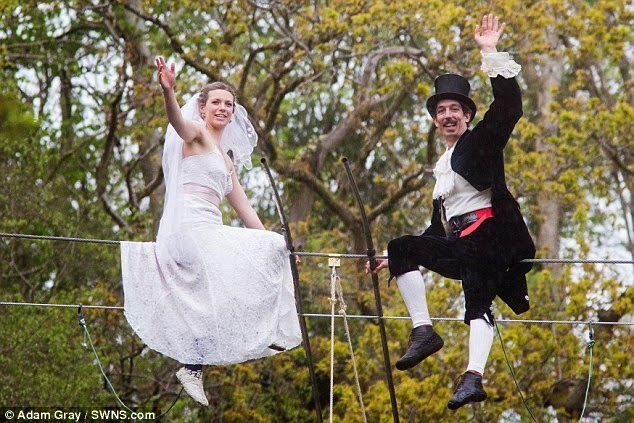high wire wedding england