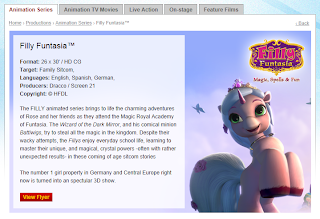 Screencap of the information page on BRB Internacional's website about Filly Funtasia