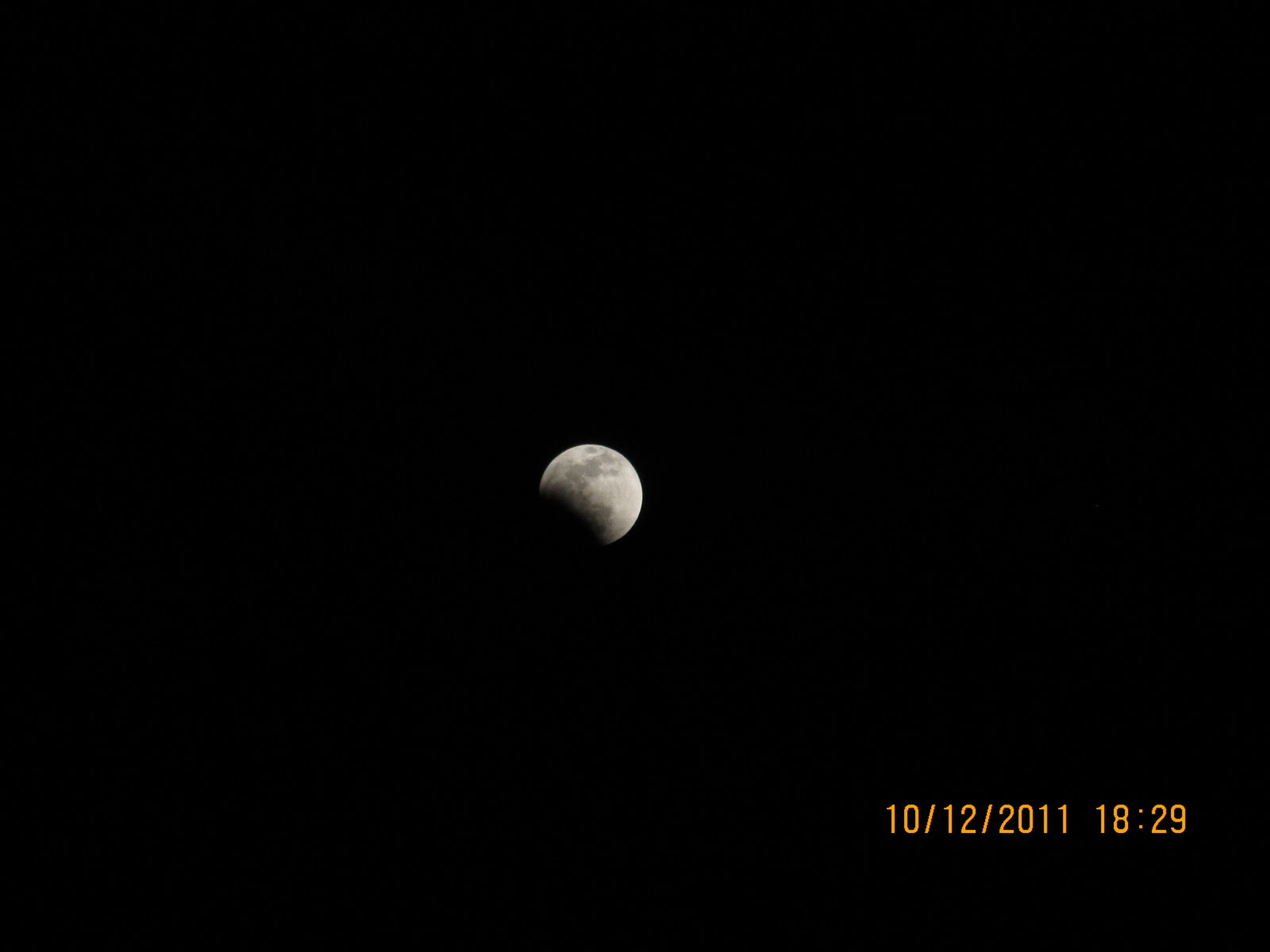 Sequence of photos of Lunar eclipse