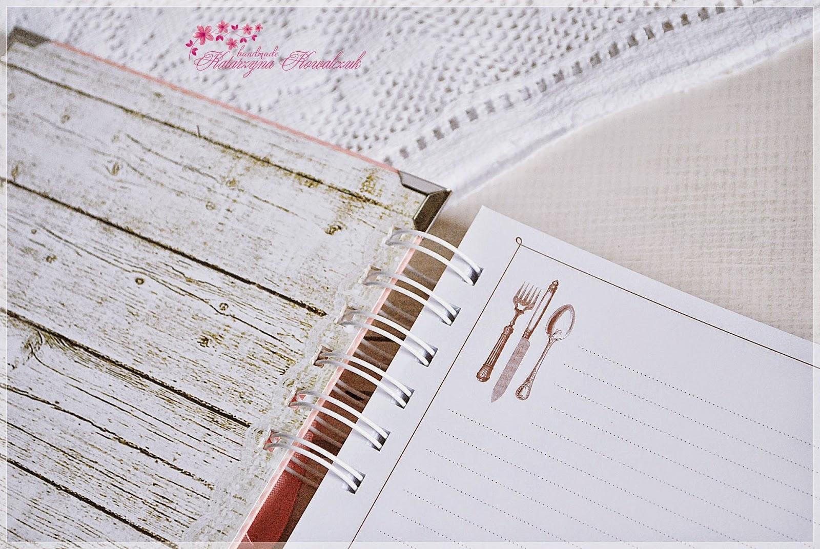 przepiśnik, notatnik kulinarny scrapbooking