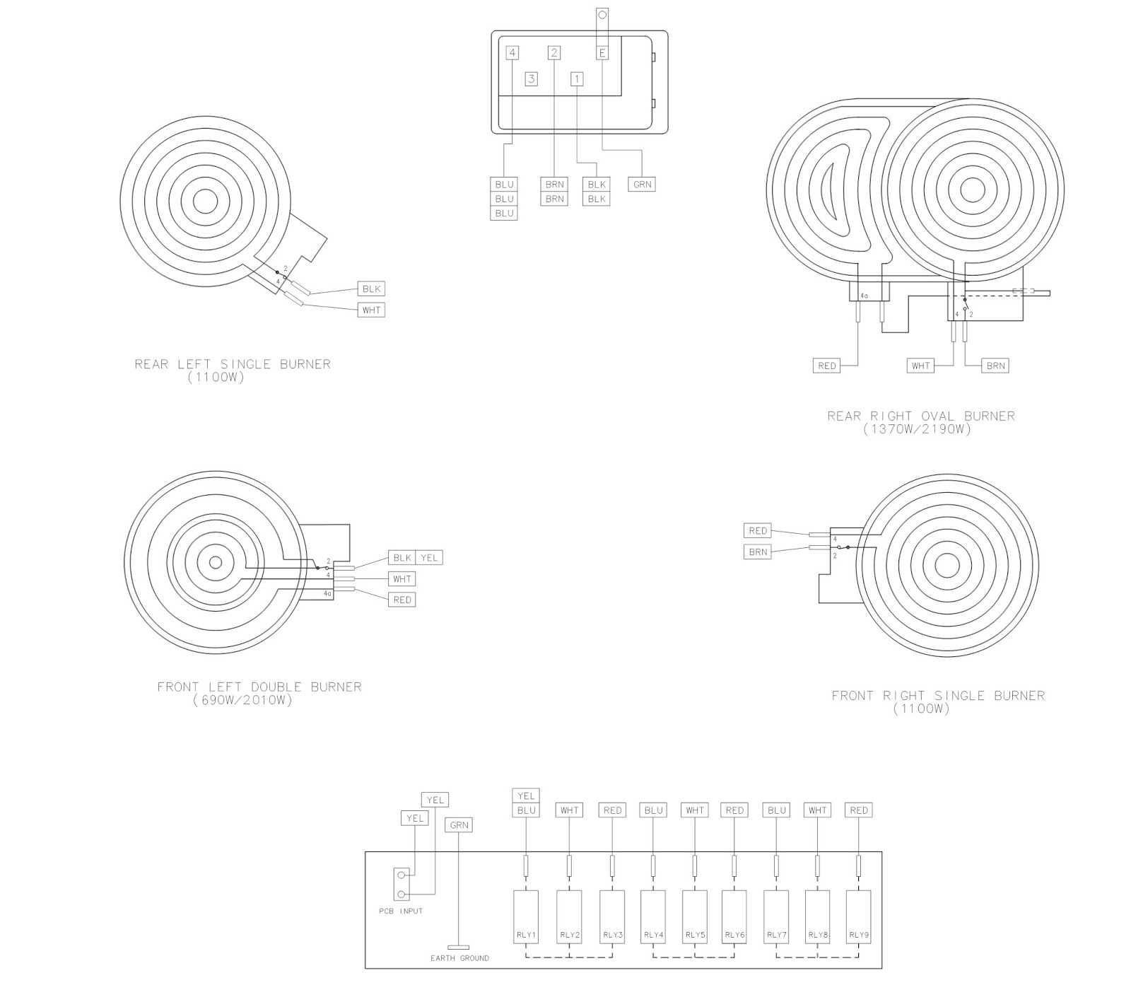 samsung ceramic glass hob c61rcast - repair help - electrical connection