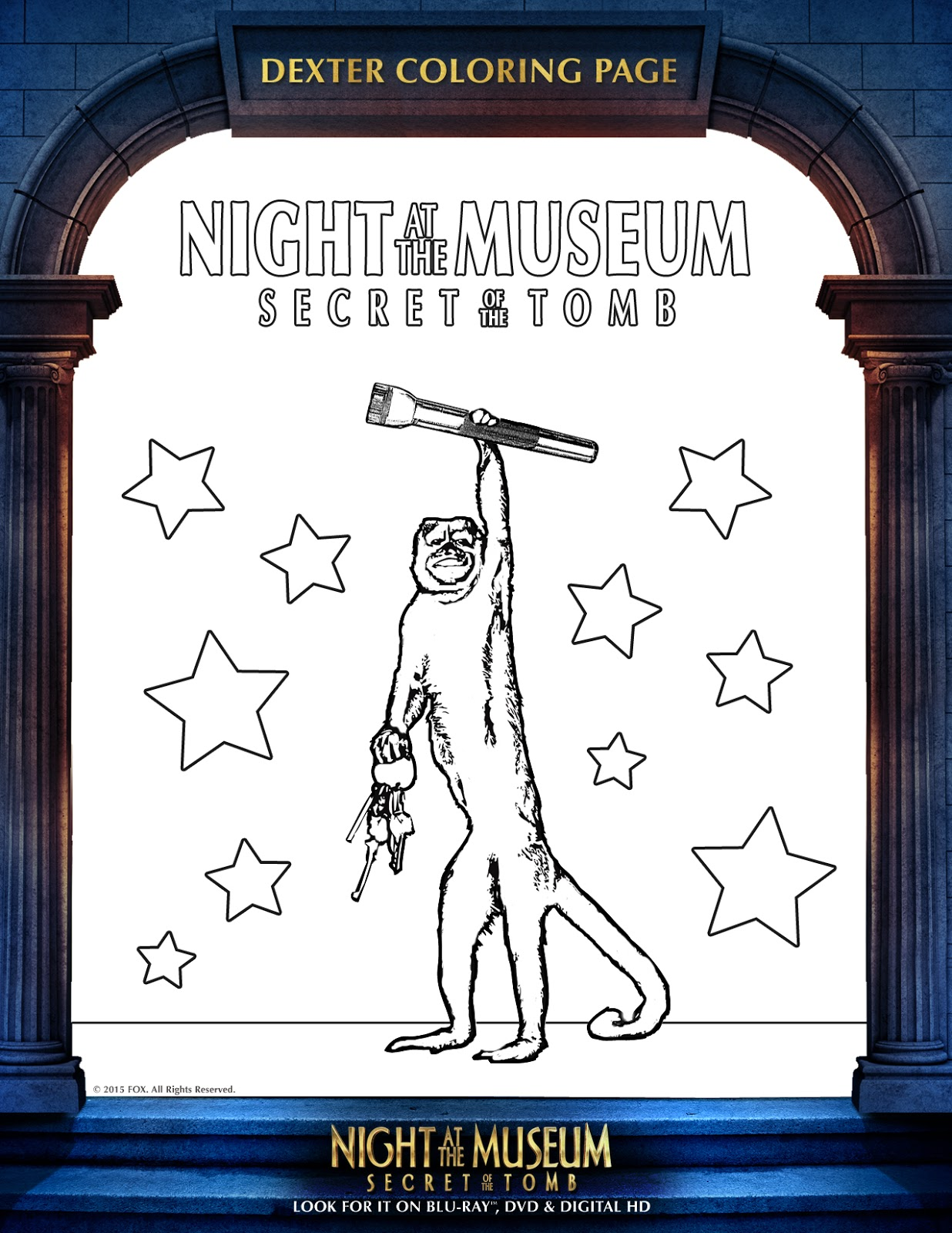 night of the museum 3 colouring