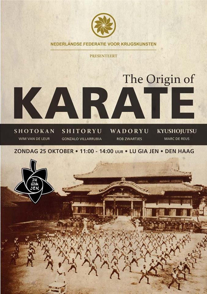 the origin of karate seminar 25th oct the hague karate