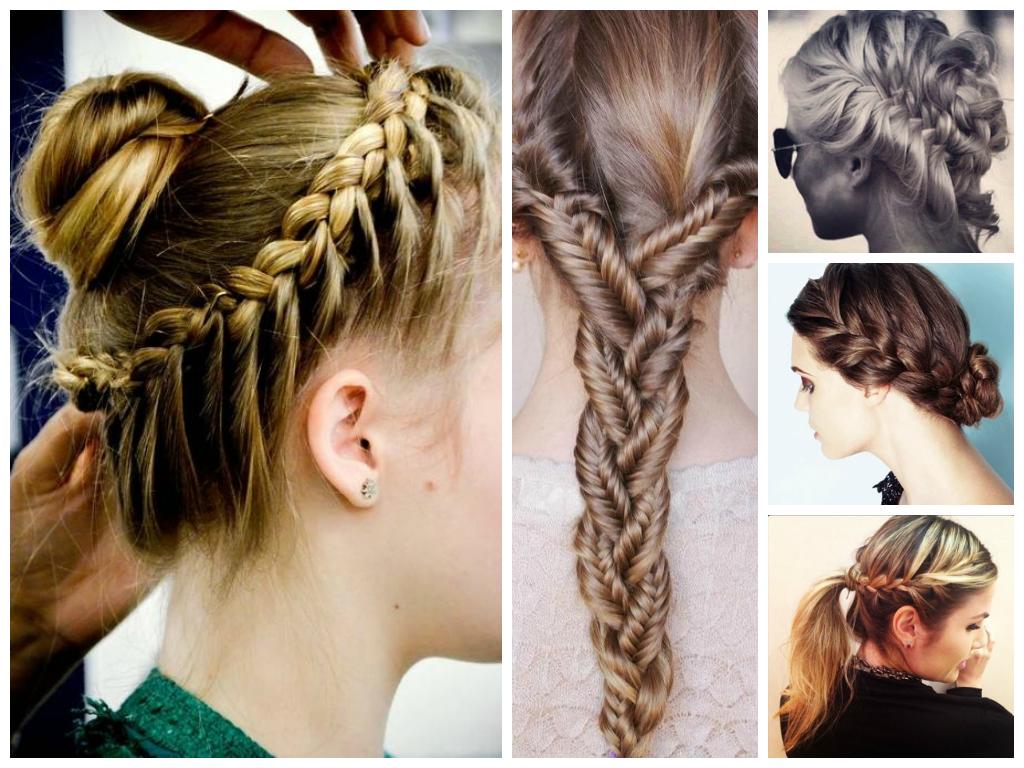 Tipos de penteados trança presos