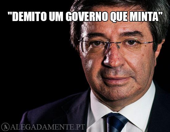 """Imagem de Paulo Morais – """"Demito um Governo que minta"""""""