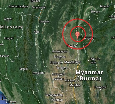 shwebo, burma earthquake 2013 september 20
