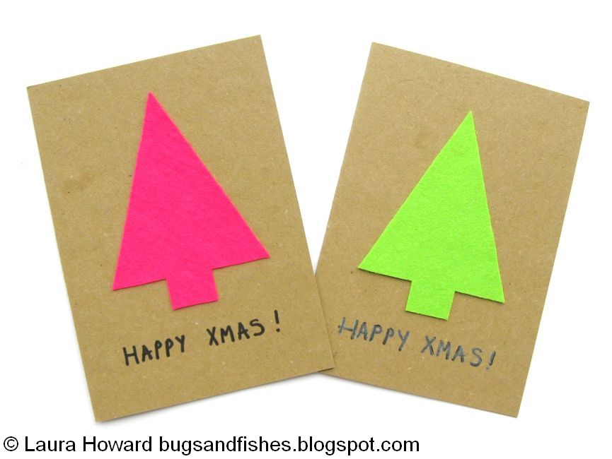 Bugs And Fishes By Lupin How To Minimalist Neon Christmas Cards