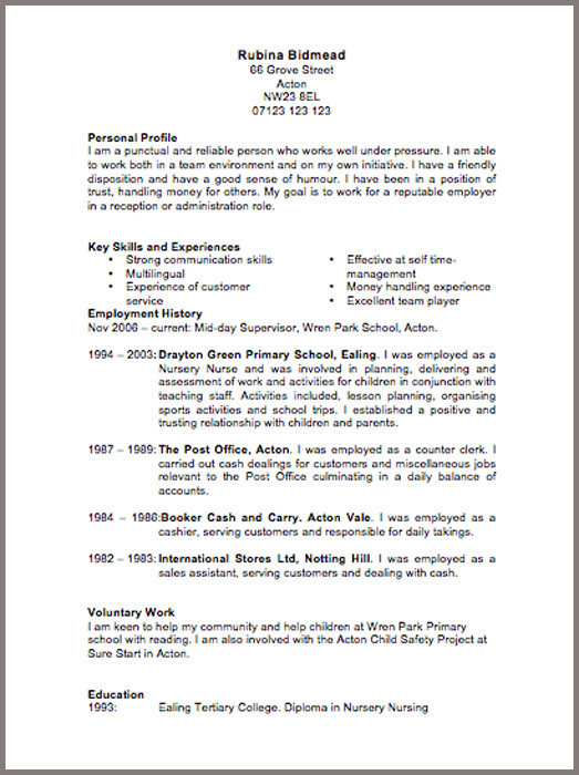 what to say in your personal statement on a cv - Cvs Resume Paper