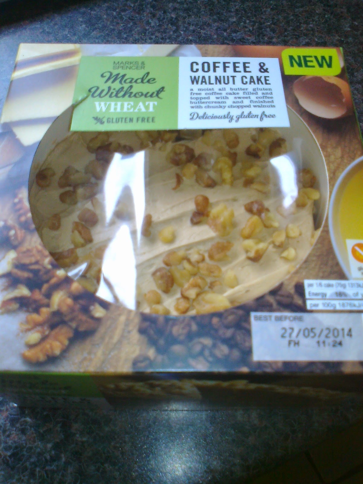 Marks and spencer coffee and walnut cake recipe