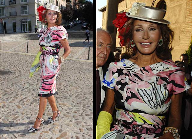 Naty Abascal vestida de Lacroix en la boda del hijo de Alfonso Ussía