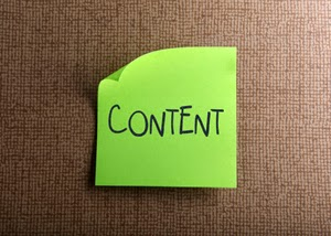 Post-it note saying content