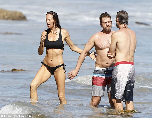 Gerard Butler Girlfriend Morgan Brown Displays Perfect Bikini Body On The Beach