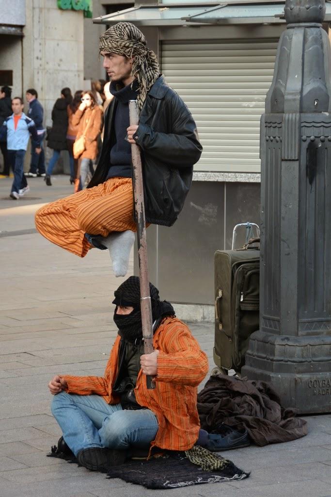 Puerta del Sol Madrid stunt