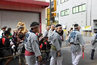 北野神社のお祭りにて