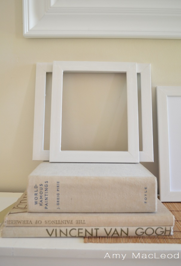 white picture frame by Amy MacLeod, www.fivekindsofhappy.com