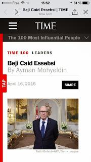 Essebsi parmi les 100 personnalités les plus influentes du monde